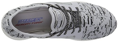 Skechers Damen Bobs Squad-Double Dare Slip On Sneaker Grau (Grey/Black)