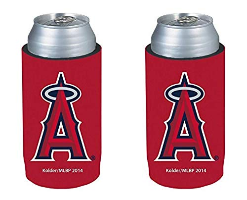 (MLB 2014 Baseball Ultra Slim Beer Can Holder Koozie 2-Pack - Pick Your Team (Los Angeles Angels))