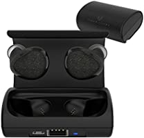 Cobble Pro Bluetooth Headset V4.1 True Wireless Earbuds In-Ear Earphones, Mini Twins Headphone with Mic & Charging Carrying Case, Noise Cancelling & Sweatproof for Apple iPhone X/8/7/8 Plus, Black