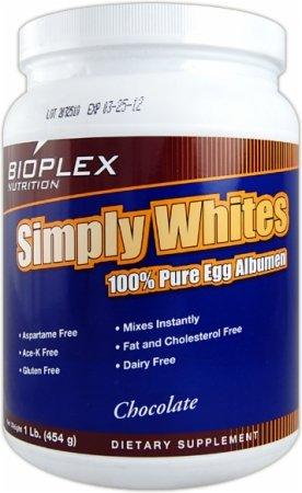 100% pures naturelles blancs d'oeufs - 1 lb, (Nutrition Bioplex)