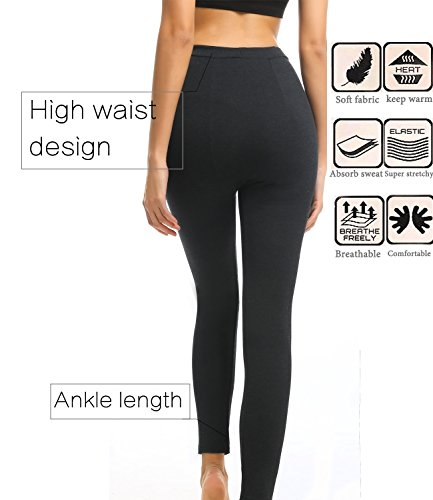 LANFEI-Womens-High-Waist-Fleece-Lined-Leggings-Soft-Stretch-Yoga-Pants