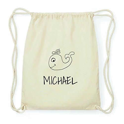 JOllipets MICHAEL Hipster Turnbeutel Tasche Rucksack aus Baumwolle Design: Wal