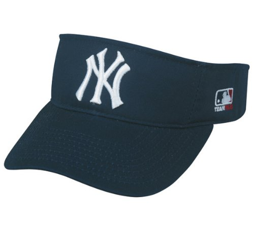 0774df573 OC Sports New York Yankees MLB Sun Visor Golf Hat Cap Navy Blue w/White NY  Logo Adult Men's Adjustable