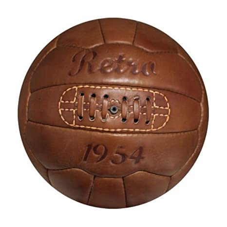 Retro Fußball - Fútbol Retro de 1954 Cuero Genuino Retro: Amazon ...
