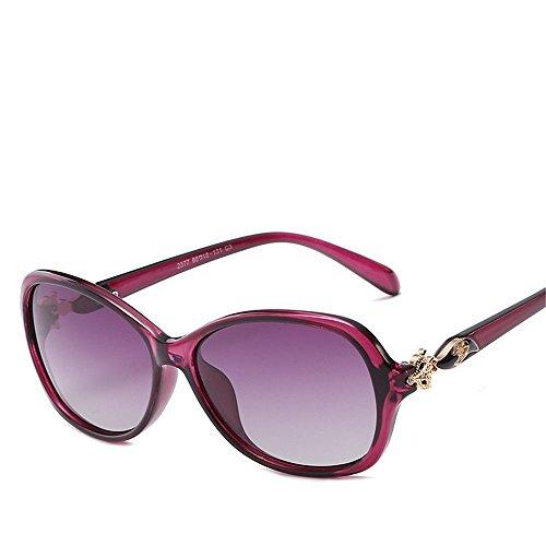 Chahua Lunettes de soleil brillant élégant tempérament élégant, européenne et américaine grande boîte à lunettes les lunettes