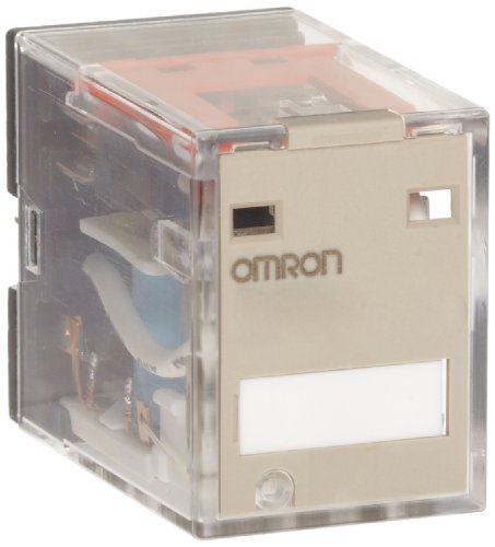 Omron MY2N AC24 (S) General Purpose Relay, Standard Coil Polarity, LED Indicator, Standard Type, Plug-In Socket/Solder Terminal, Double Pole Double Throw Contacts, 53.8 mA at 50 Hz and 46 mA at 60 Hz Rated Load Current, 24 VAC Rated Load Voltage - Ac24 General Purpose Relay