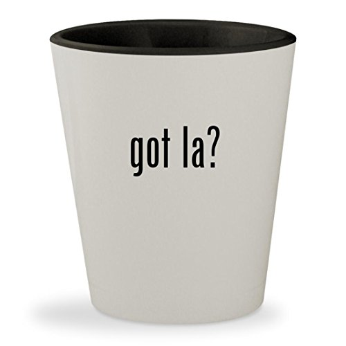 got la? - White Outer & Black Inner Ceramic 1.5oz Shot Glass (Las Tickets To Airline Vegas)