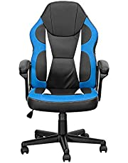 Need Gaming Chair E-Sports Computer Chairs Executive Ergonomic Adjustable Swivel Task Chair with Lumbar Support Gaming Office Desk Chair AE20CJ (Black & Blue)
