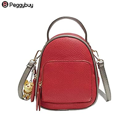 8e92ca86413a Amazon.com: DingXiong 2018 Cute Backpack Female Zipper Shoulder Bag ...