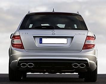 Mercedes W204 S204 AMG C63 Difusor parachoques trasero C200 C220 C250 C300 C350 Estate: Amazon.es: Coche y moto
