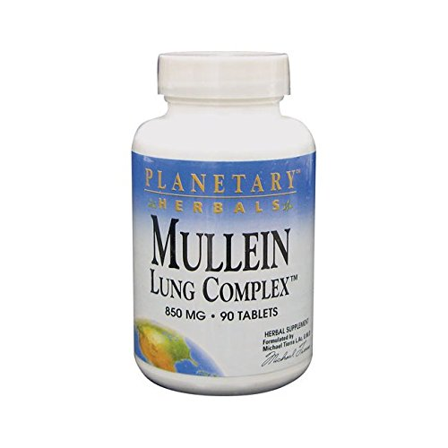 Planetary Herbals Mullein Lung Complex 1000 milligrams 90 Tablets. Pack of 1 Bottle