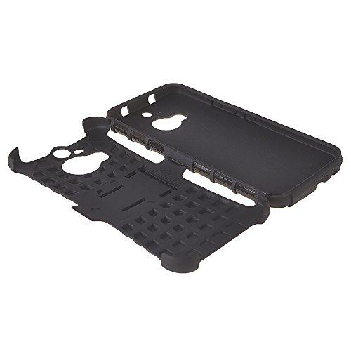 M9 Plus Fundas,COOLKE [púrpura] Duro resistente Choque Heavy Duty Case Hybrid Outdoor Cover case Bumper Para HTC One M9 Plus M9+ Negro