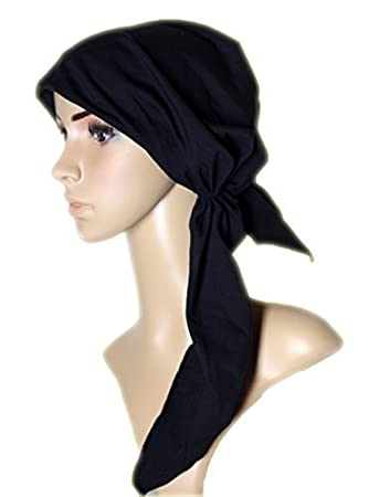 Pre Tied Head Scarf Fitted Head Covering Tichel Hair Snood Bandana ...