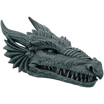 Design Toscano Stryker the Smoking Dragon Sculptural Incense Box