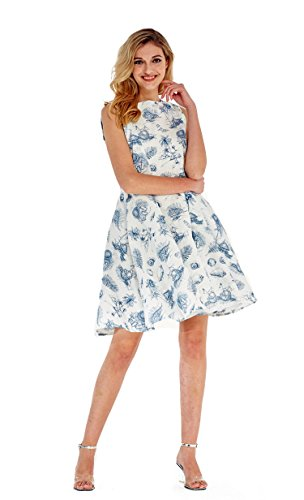 Hawaii Hangover Womens Vintage Fit and Flare Dress in Tropical Patterns
