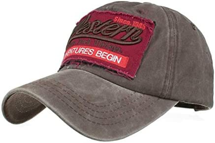 Gorras de béisbol, enjocho unisex con letras vaqueras, sombrero de ...