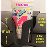 The LEDGE The Best Auto Cup Holder Large Cup Holder (for Yeti's, Hydro flasks, Big Gulps, Large Bottled Drinks, Big Mugs…