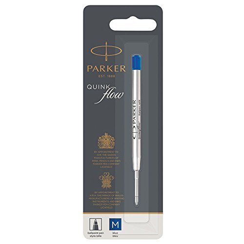 Parker Quinkflow Ball Pen Refill Medium Nib, Blue
