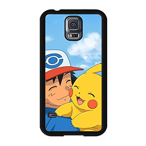 Creative Unique Samsung Galaxy S5 I9600 Back Cover Case,Pokemon Pattern Phone Case Snap on Samsung Galaxy S5 I9600,Pikachu Printed Case