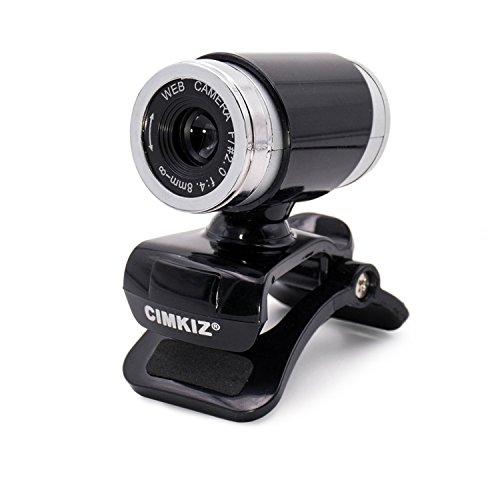 Cimkiz A860 webcam,USB 2.0 Web cam, PC Cam with MIC Clip-on 360 Degree for Desktop Skype(Black)