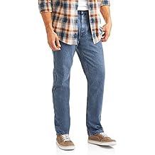 Faded Glory Men's 5 Pocket Straight Leg Regular Fit Jeans