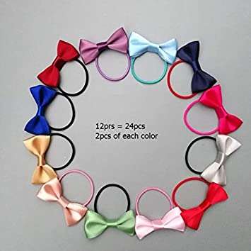 Ties Hair Girl Band Bow Knot Accessories Hairband Kids Small Bow Elastic Rubber