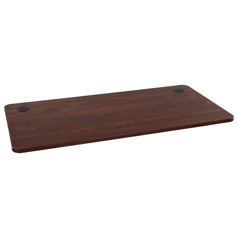 Sunon Rectangle Laminate Table Top 55''x27.5'' Universal Wood Table Top for Home Office Desk/Sit Stand Desk/Computer Desk/Gaming Desk (Cherry)