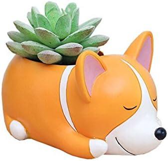 Cute Animal Corgi Shaped Cartoon Home Decoration Succulent Vase Flower Plant Pots Plant Not Included