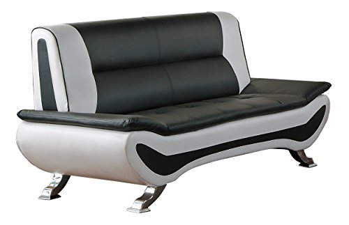- Homelegance R18219-2 Faux Leather Low-Profile Love Seat, 63