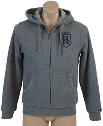 Tommy Hilfiger Mens Fur Lined Full Zip Hooded Sweatshirt - XS - Gray