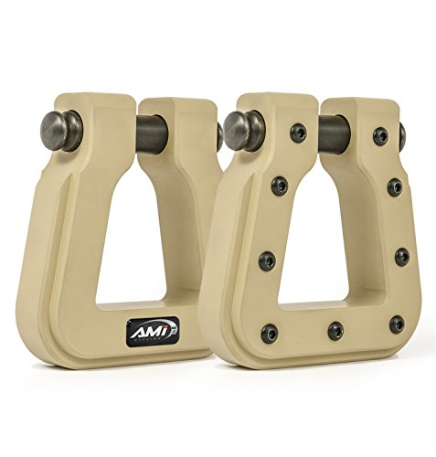 All Sales AMI 8802TN-2 Demon Hook-Square D-Ring Desert Tan