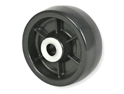 "Colson Solid Polyolefin 5"" x 1-1/2"" Wheel / 3/4"" Roller Bearing 700# Cap 4-5-819"