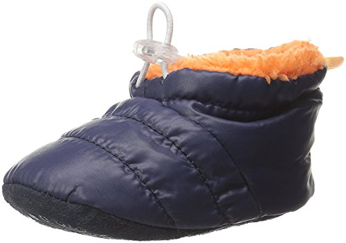 Skidders Puffy Booties Baby Boots Boys, 1 Pack - Boys - Navy & Orange, 12M