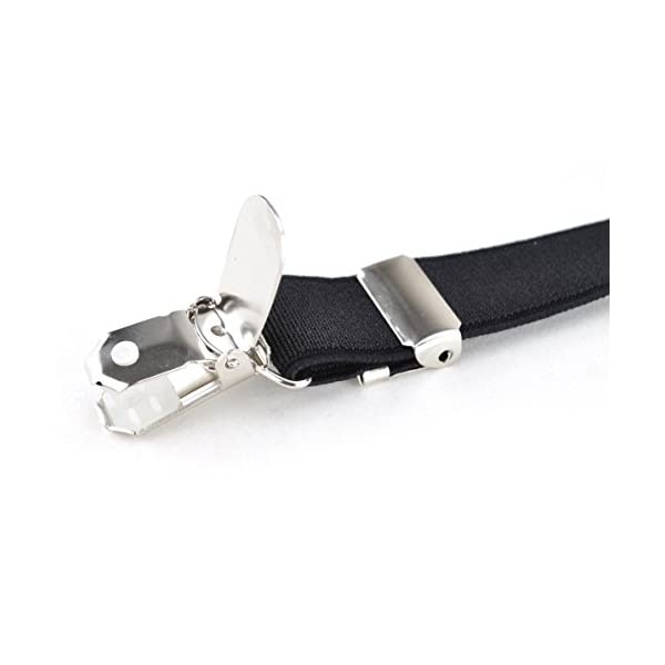 TopTie Men's Solid Suspenders Elastic 3/4 inch X-back Adjustable Suspenders