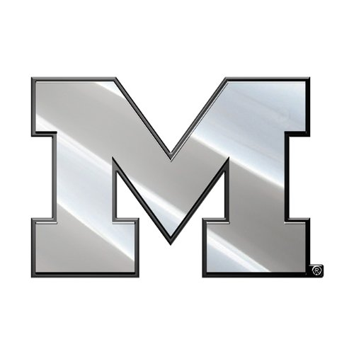 Michigan Wolverines NCAA Chrome 3D for Auto Car Truck Plastic Emblem Decal College Officially Licensed Team (Michigan Wolverines Ncaa Peel)