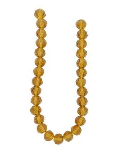 (Tennessee Crafts 3011 Glass Beads, Round, Amber, 8mm)