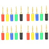 20PCS Gold Plated Banana Plug for Speaker Wire, Home Theater, Wall Plates and More(Five Colors Choices)