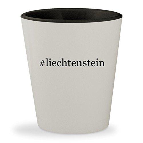 Liechtenstein Cosplay Costume (#liechtenstein - Hashtag White Outer & Black Inner Ceramic 1.5oz Shot Glass)