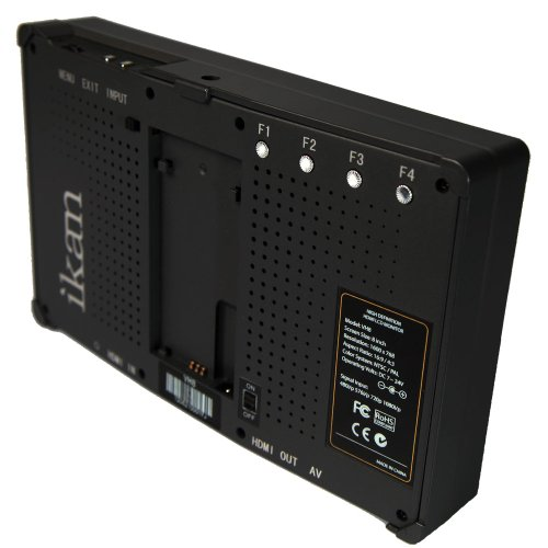 Ikan VH8-P 8-Inch HDMI Monitor with HD Panel with Panasonic D54 Battery Plate (Black)