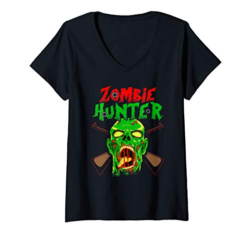 Womens Zombie Hunter Halloween Scary Horror Costume Gift