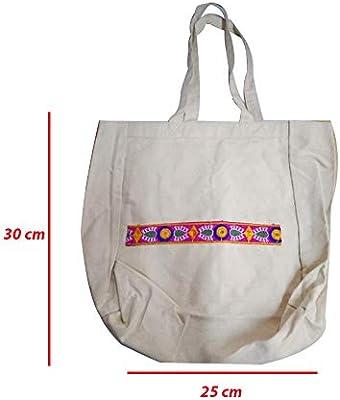 Bolsas de compras de algodón abiertas con asa – Bolsas ...
