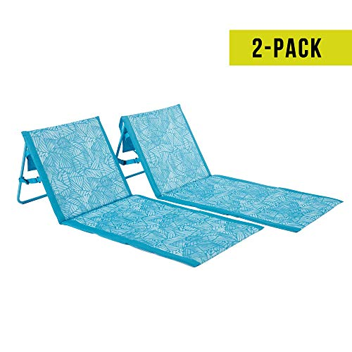 (Lightspeed Outdoors 2 Pack Lounger Park and Beach Chair (Aquamarine))