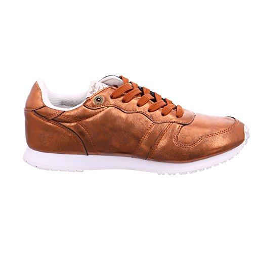 Pepe Jeans London Gable Plain, Zapatillas para Mujer, Naranja (Rust Orange), 36 EU