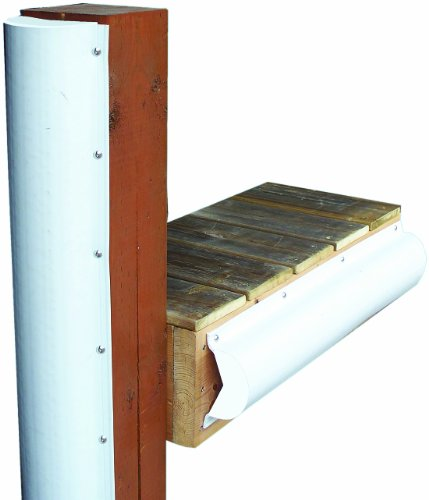 (Dock Edge + Inc. PVC Piling Bumper (White, 6-Feet))