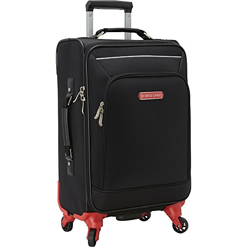 swiss-cargo-petra-21-spinner-luggage-black-silver