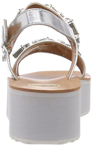Buffalo Ladies 317177 Xy1042 16 # Sandali Con Cinturino Argento (argento)