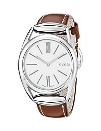 Gucci Women's YA140402 Horsebit Swiss Quartz Brown Watch