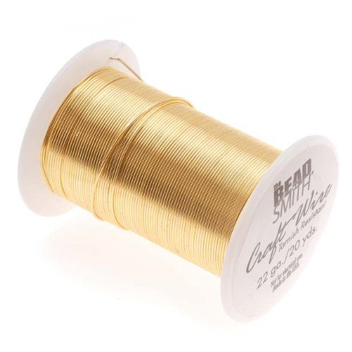 Tarnish Resistant Craft Wire 22 Gauge, Gold Color