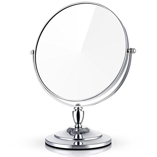 - Miusco 7X Magnifying Two Sided Vanity Makeup Mirror, Round, Chrome