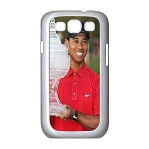 Samsung Galaxy S3 Case Tiger Woods Trophy, Samsung Galaxy S3 Case Tiger Woods for Guys Design, [White]